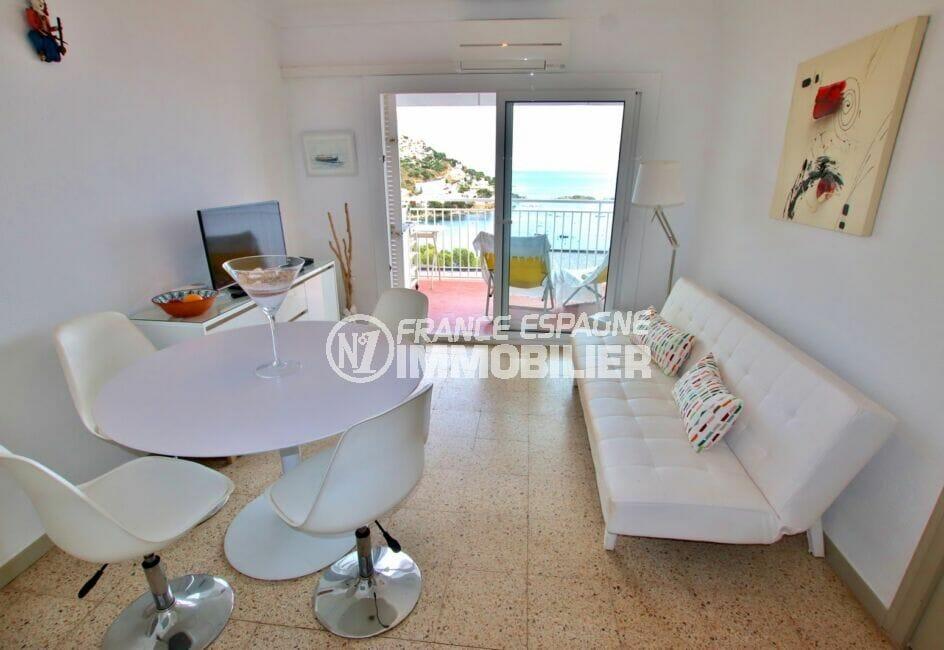 vente immobiliere costa brava: appartement 3 pièces 44 m² avec séjour vue mer