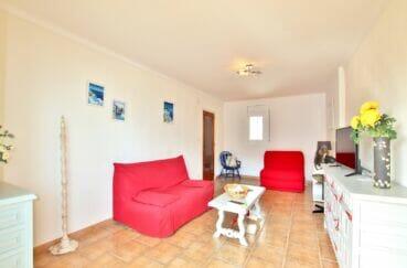 appartement a vendre rosas, 2 pièces 55 m², séjour, carrelage au sol, luminaire plafond
