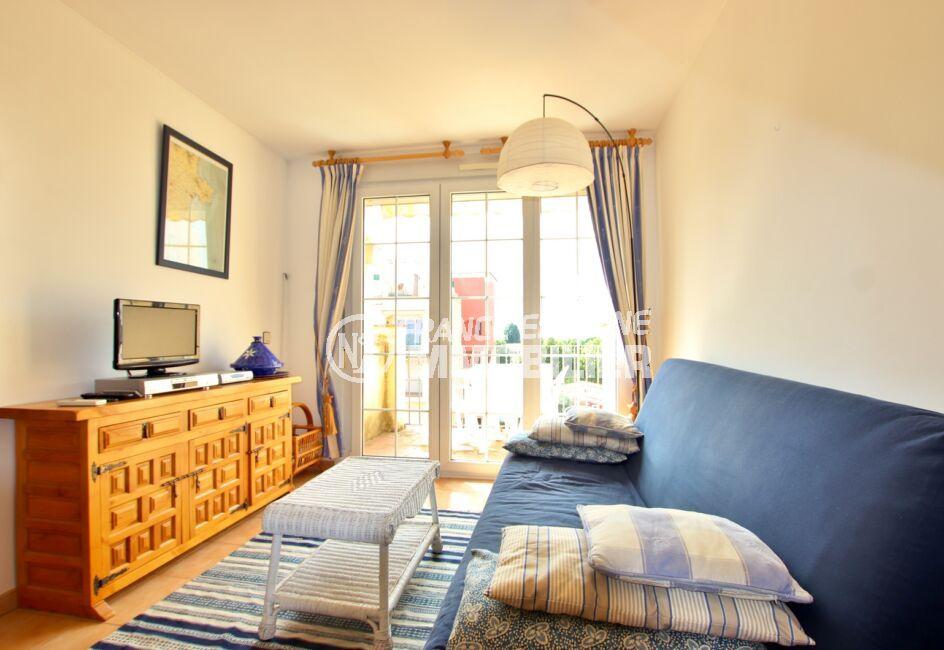 appartement empuriabrava, 2 pièces 45 m², séjour avec terrasse vue dégagée