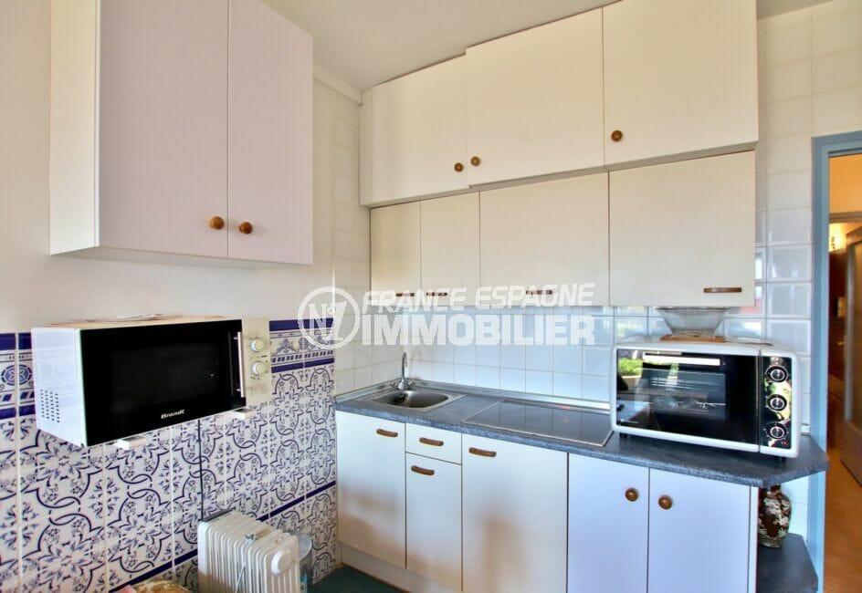 appartements a vendre a rosas, 2 pièces 39 m², coin cuisine aménagé de nombreux placards