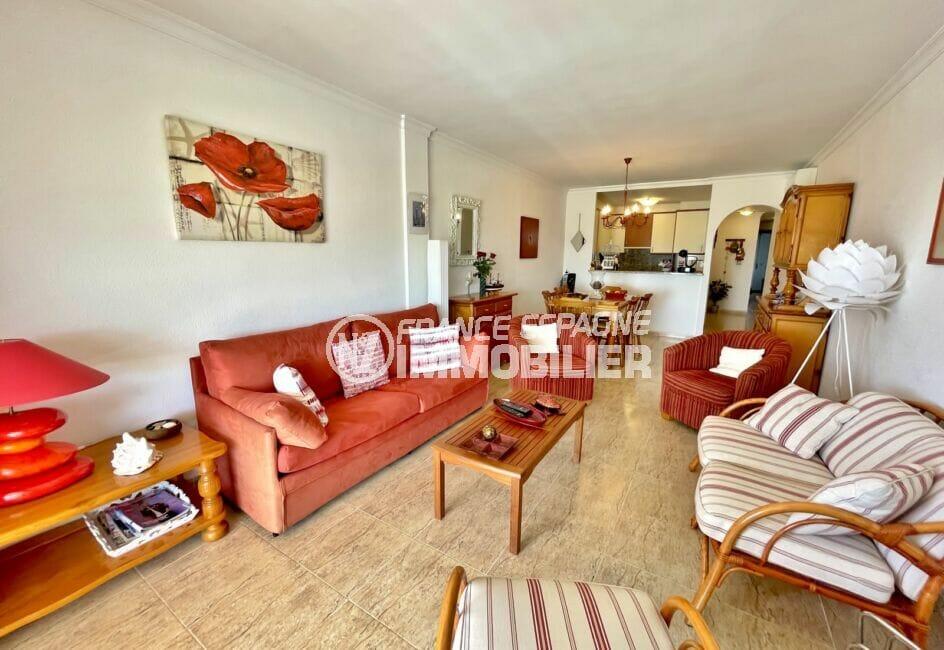 appartement à vendre à empuriabrava, 3 chambres 128 m² et grand séjour avec cuisine ouverte