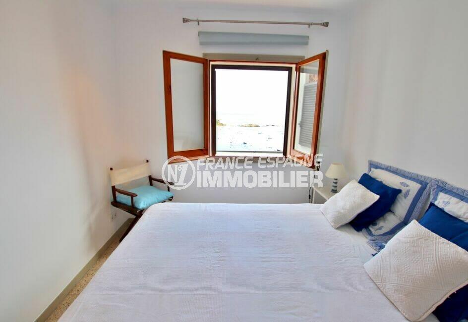 appartement a vendre rosas vue mer, 3 pièces 44 m² terrasse vue mer, chambre à coucher