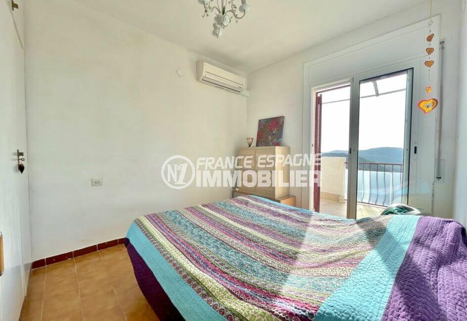 achat maison rosas, 3 pièces 59 m², chambre à coucher avec terrasse et climatisation