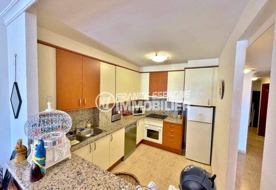 la costa brava: appartement 4 pièces 128 m² vue mer, cuisine américaine aménagée et équipée