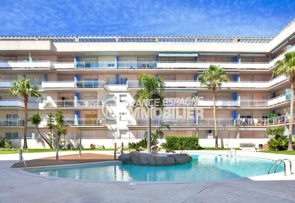 appartement a vendre a rosas, 2 pièces 47 m², résidence standing proche plage