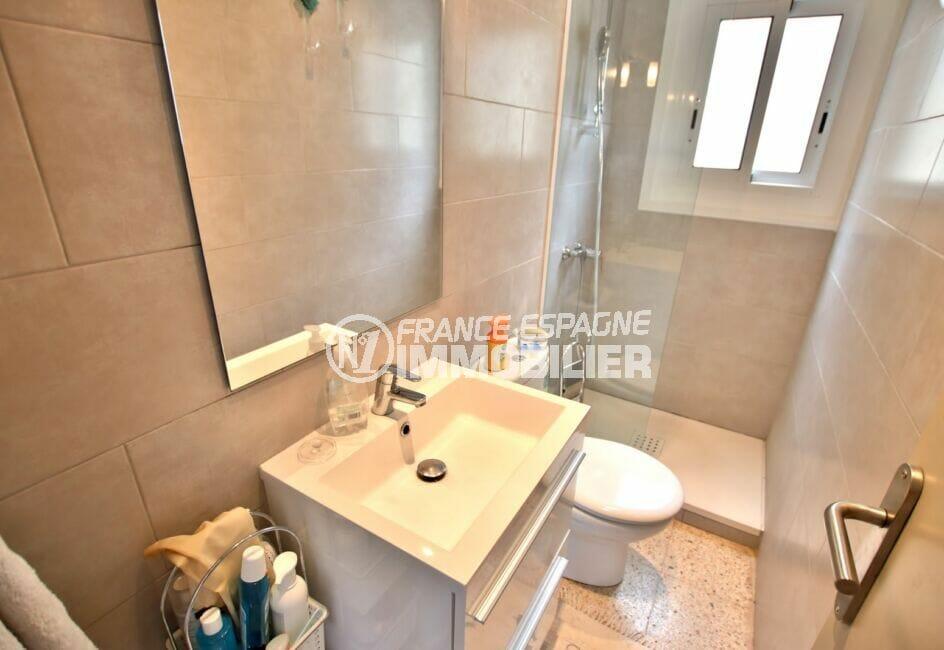 appartement a vendre rosas, immobilier espagne costa brava vue mer: 3 pièces 44 m², salle d'eau, douche et wc
