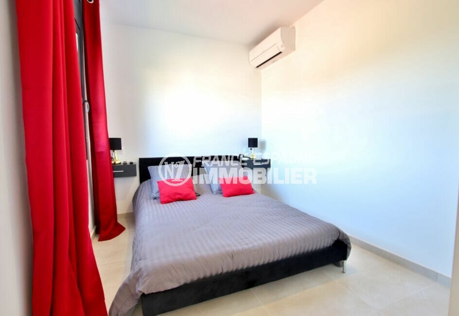 immo center rosas: villa 105 m², 3° chambre à coucher, climatisation