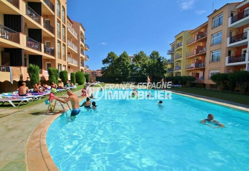vente immobilier espagne costa brava: appartement 2 pièces 45 m², piscine communautaire