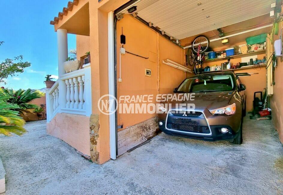 immo center rosas: villa 169 m² sur terrain de 420 m², garage, fermeture électrique
