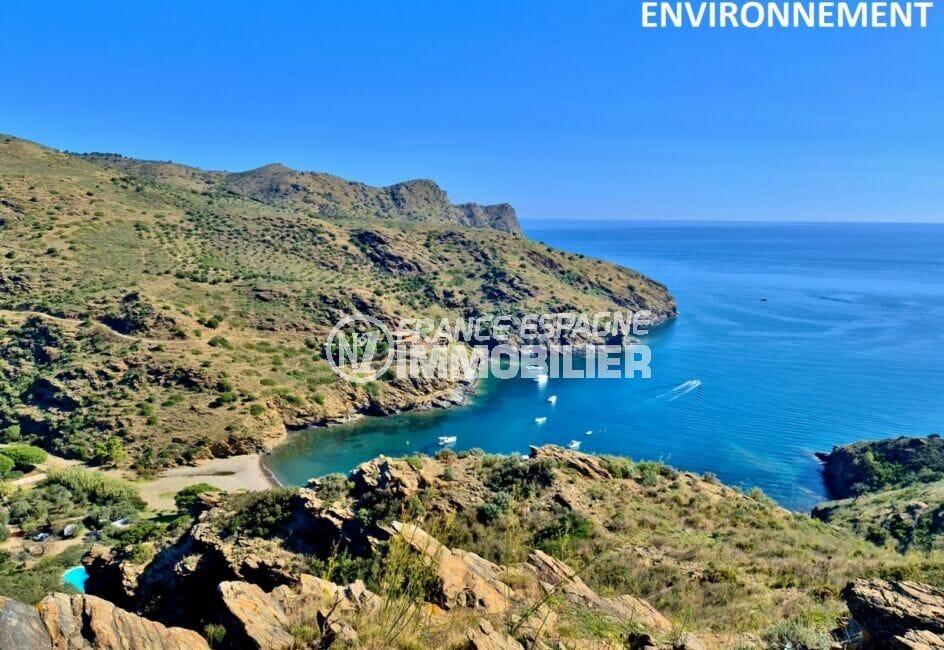 une belle plage avec ses eaux peu profondes entourée de verdure et de calme