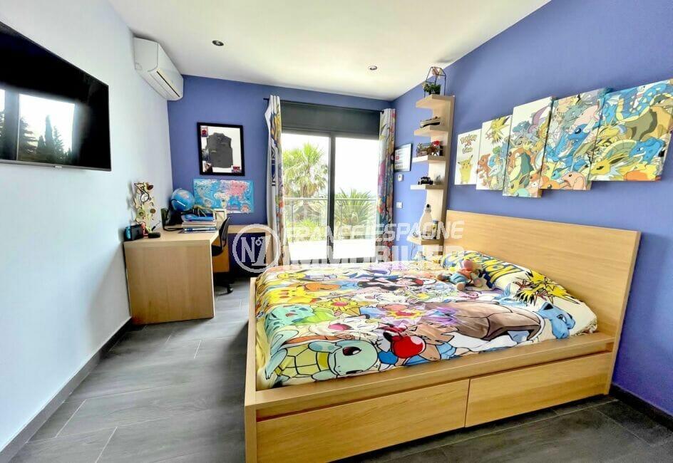 vente immobiliere espagne costa brava: villa 215 m², 3° chambre enfant double avec terrasse