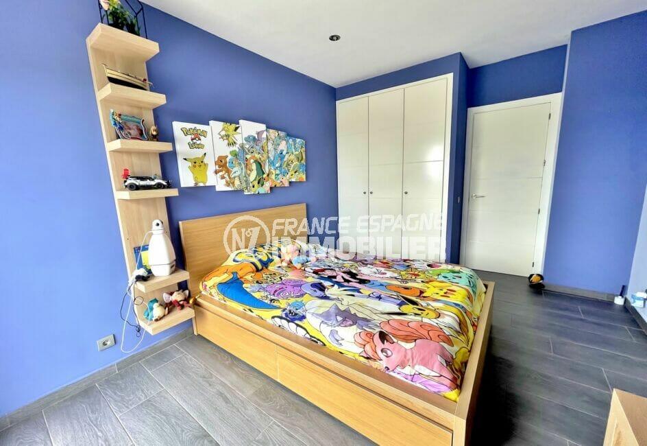vente immobilière espagne costa brava: villa 215 m², 3° chambre enfant double, armoire encastrée