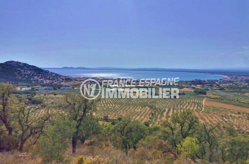 immocenter roses: villa 105 m² 3 chambres, magnique vue de la terrasse sur la emr et les montagnes