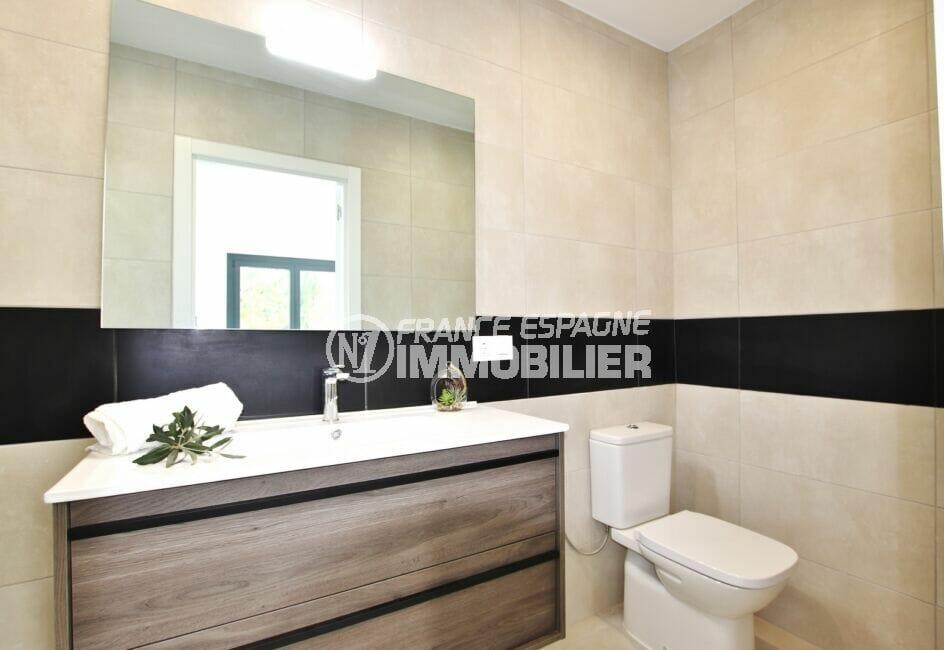 vente immobiliere rosas espagne: villa 105 m², salle d'eau avec wc