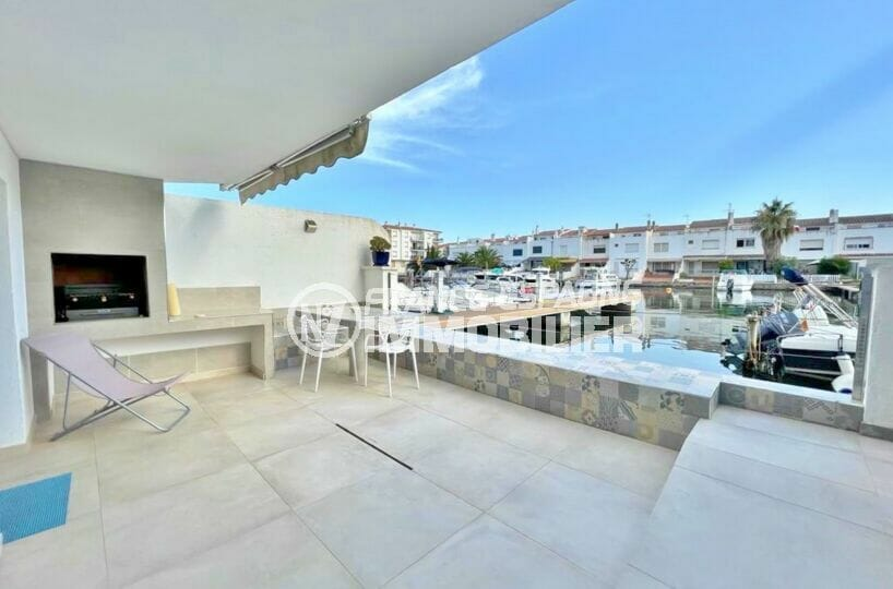 appartement empuria brava, 2 chambres 53 m², terrasse vue marina avec barbecue