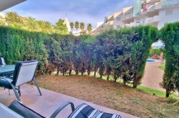 agence immobiliere santa margarita: 2 pièces 53 m², avec terrasse, jardin privé et piscine commune