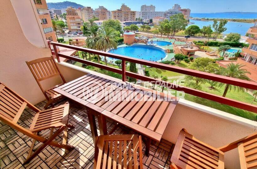 appartement a vendre costa brava: studio 35 m² avec terrasse vue mer