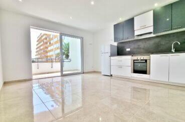 appartement a vendre roses, 2 pièces 47 m², grand séjour clair