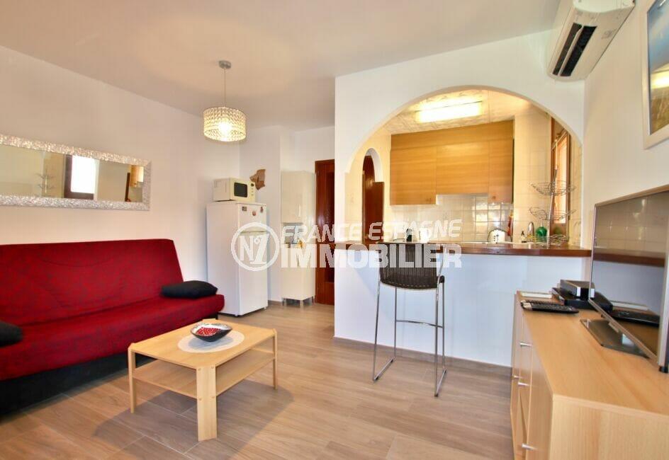 appartement a vendre a santa margarita, 2 chambres 83 m², grand séjour clair avec cuisine américaine