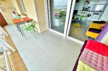 achat appartement rosas, 2 pièces 46 m², terrasse 10 m² avec coin repas