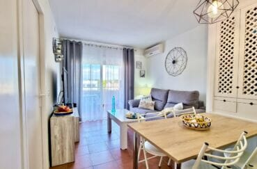 appartements a vendre a rosas, 2 pièces 48 m²,  séjour climatisé avec coin repas