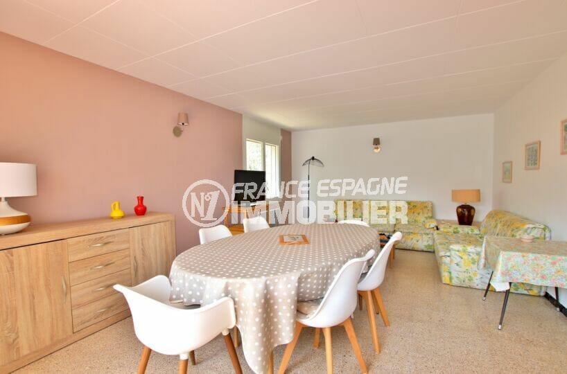 acheter appartement costa brava, 62 m² 2 chambres, lumineux salon / salle à manger avec terrasse