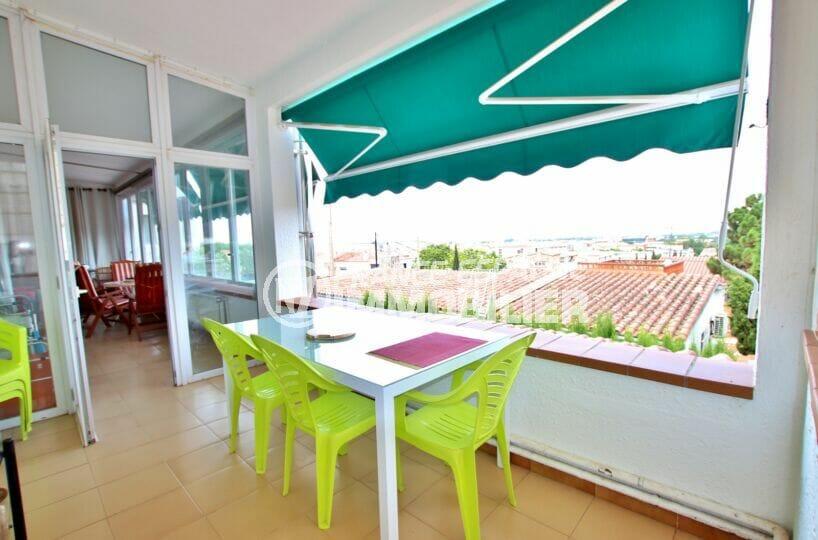 vente immobiliere rosas: villa 4 chambres 135 m², terrasse vue mer avec store