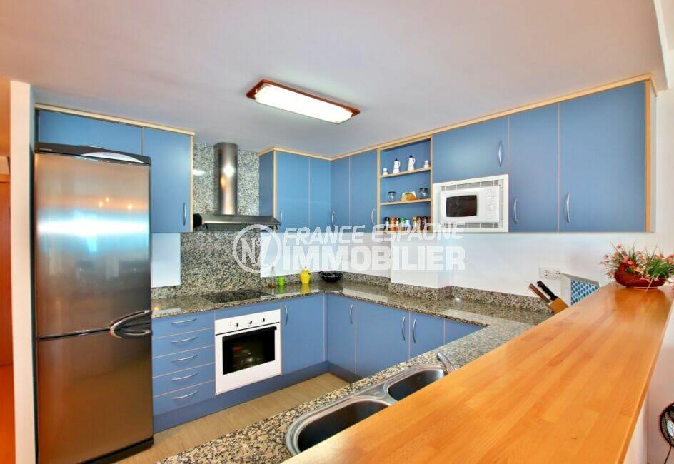 achat appartement santa margarita rosas, 2 chambres 81 m², cuisine américaine aménagée