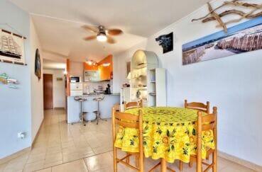 achat appartement costa brava, 40 m² avec amarre, salle à manger, cuisine américaine