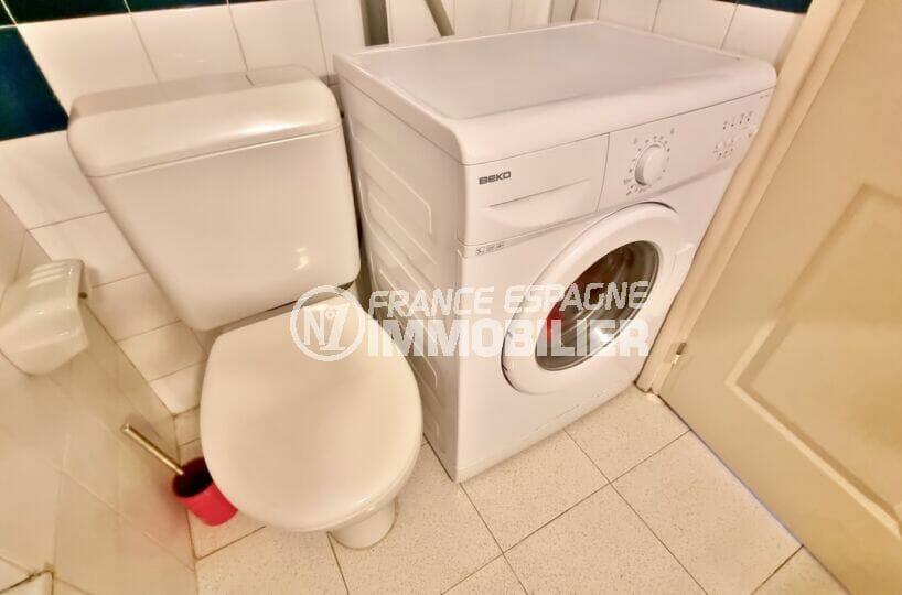 appartement à vendre rosas: studio 35 m² avec wc et emplacement lave-linge dans la salle de bains