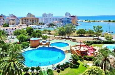 vente appartement costa brava, superbe vue mer et piscine de la résidence