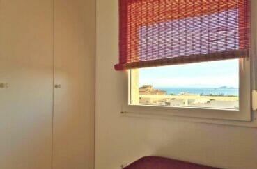 appartement a vendre rosas espagne, 2 pièces 46 m², vue mer depuis la chambre