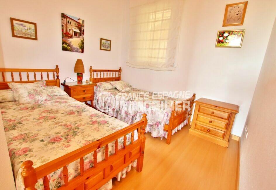 vente appartement santa margarita, 81 m², seconde chambre avec lits jumeaux
