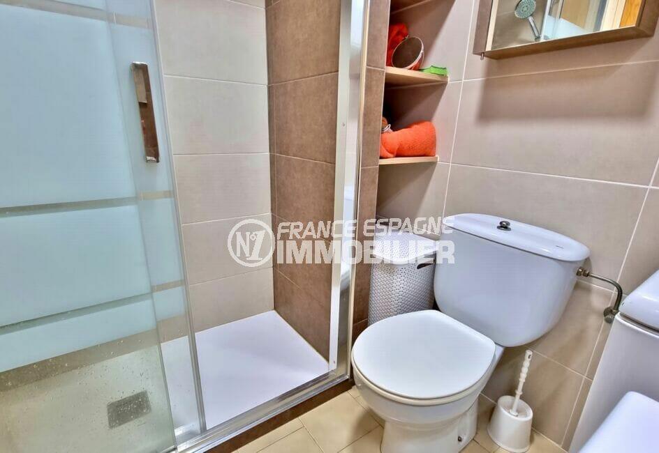 appartement gran reserva empuriabrava, 40 m² 2 chambres, salle d'eau, douche et wc