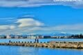 embarcadère proche du port de plaisance de rosas pour le départ des excursions sur la baie
