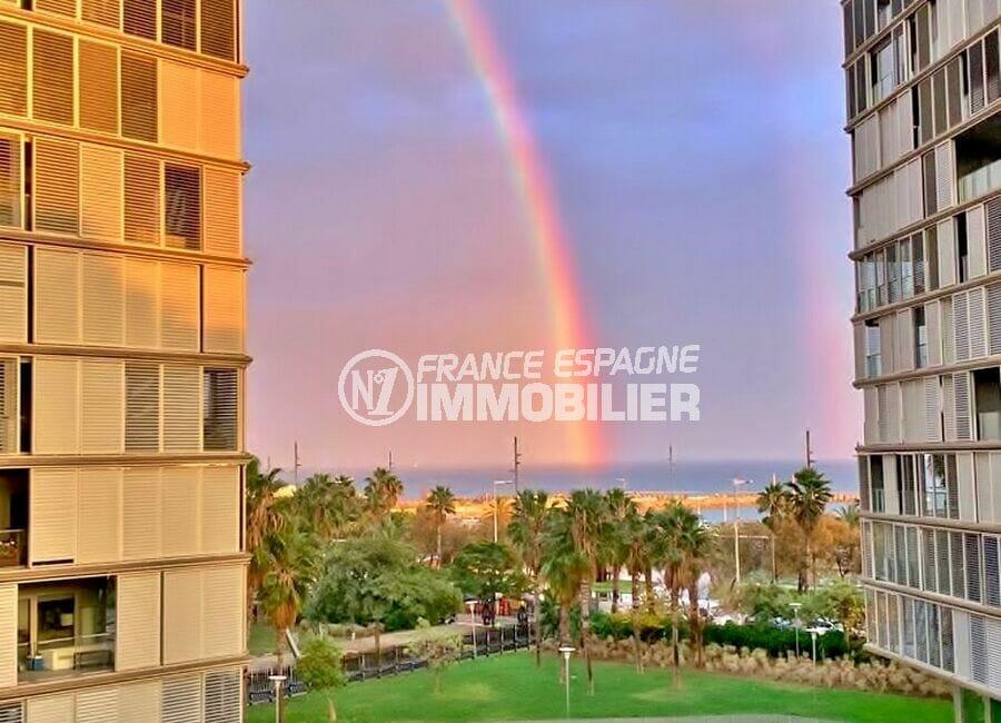 vente immobilier espagne costa brava: appartement aico 160 m² luxe, avec terrasse vue piscine à 100 m de la plage