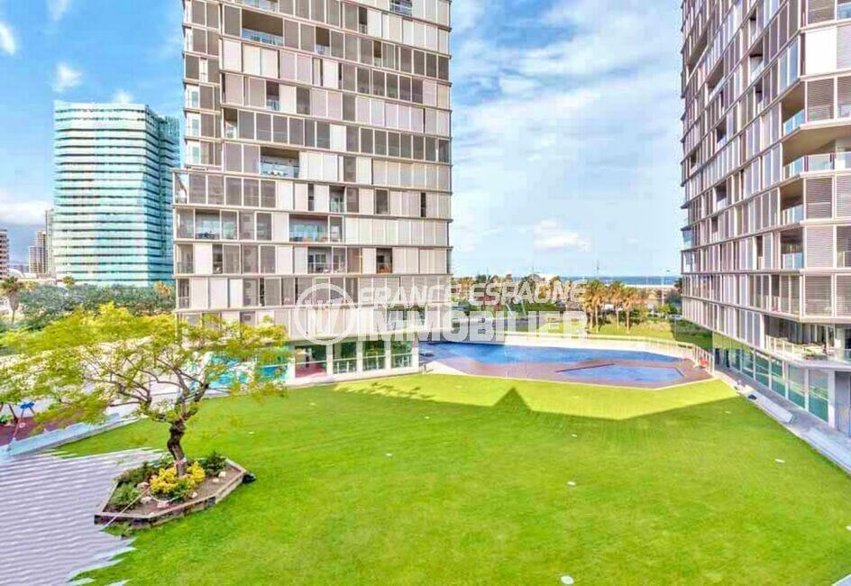 vente immobilière espagne costa brava: appartement 160 m²luxe, 2 piscines communautaires