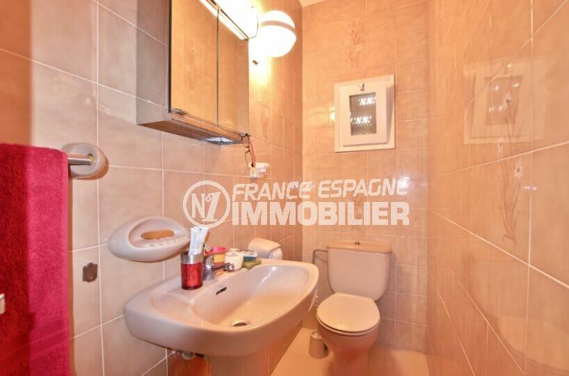 achat villa roses, 4 chambres 135 m², wc séparés avec lave mains