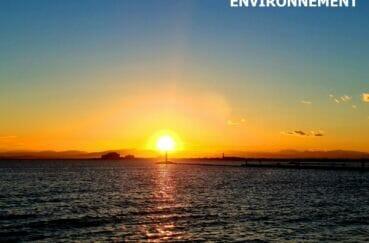 magnifique coucher de soleil un soir d'été sur cette belle plage de roses