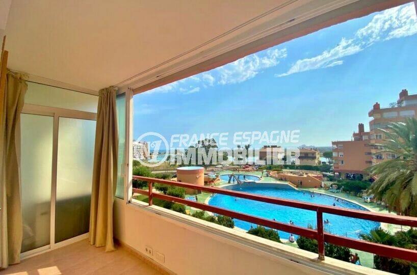 vente appartement rosas, 2 pièces 62 m², belle terrasse de 14 m², exposition sud
