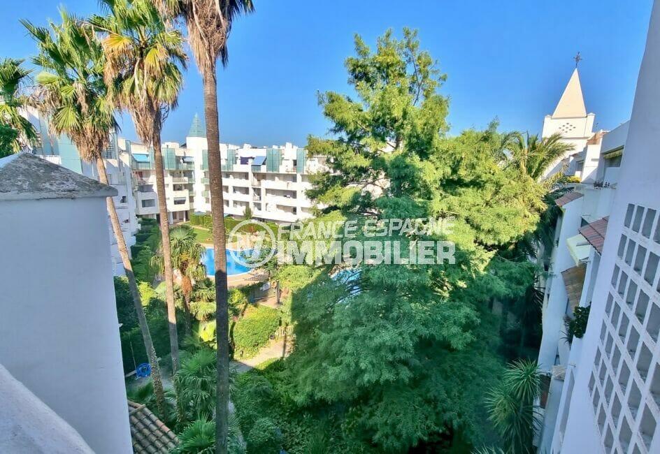 appartement rosas vente, 3 pièces 58 m², terrasse 14 m² avec vue piscine