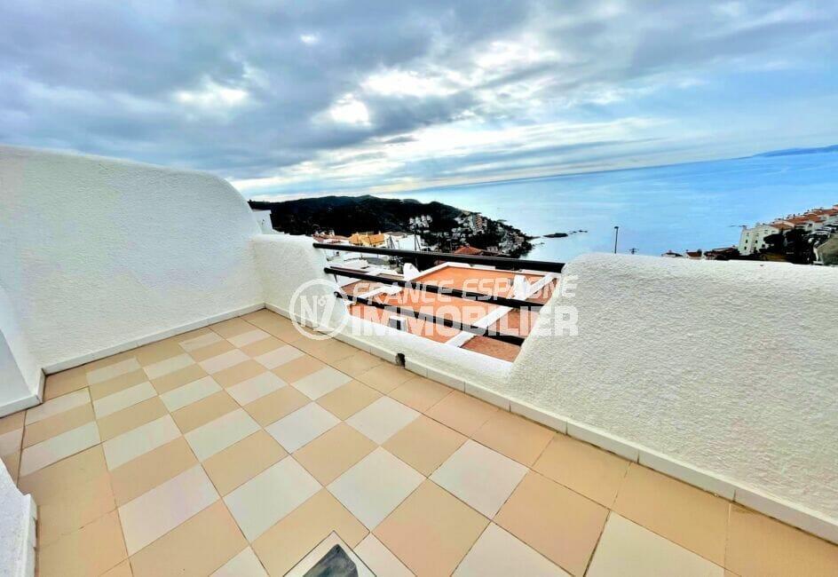 achat maison rosas, 2 chambres 71m², belle terrasse de 9 m² avec vue mer