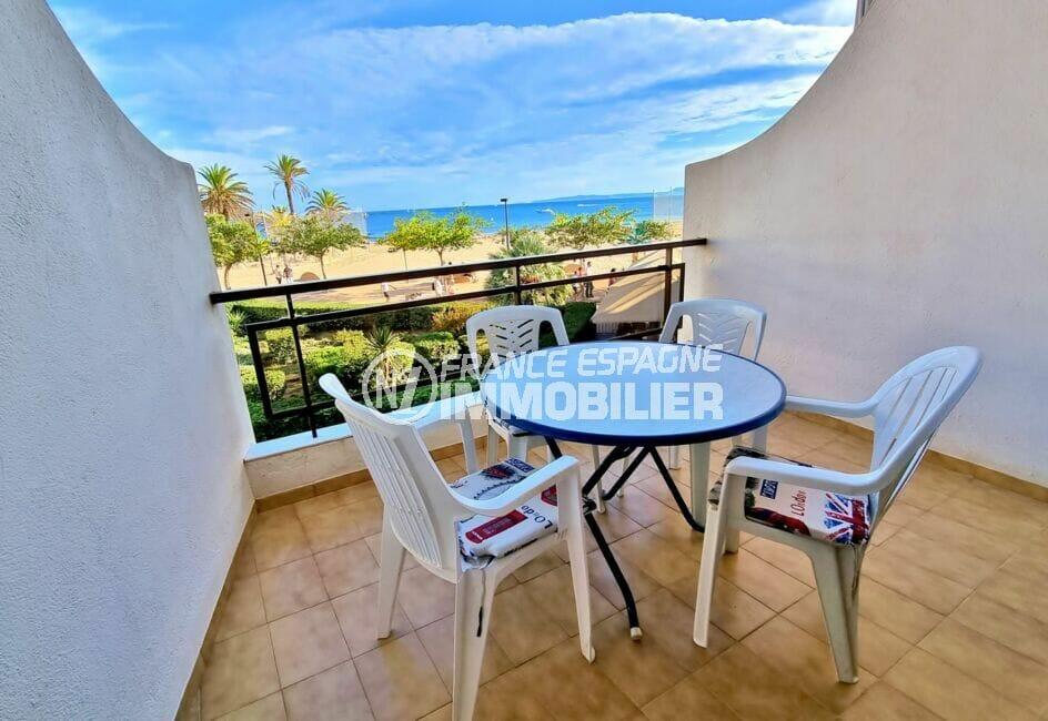 achat appartement rosas, 2 chambres 55 m², belle terrasse vue mer de 10 m²