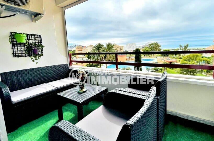 appartement a vendre a rosas, 2 pièces 59 m², belle terrasse de 12 m² avec vue mer et canal