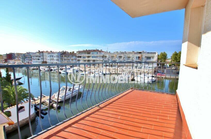 appartement a vendre empuriabrava, 2 pièces 41 m², terrasse vue canal, exposition sud