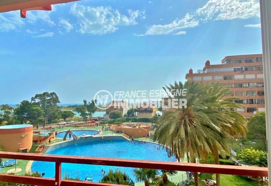 achat appartement rosas, 2 pièces 62 m², terrasse vue mer, canal et piscine