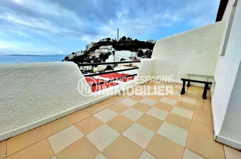 vente immobiliere rosas: villa 2 chambres 71m², 2 terrasses de 9 m² avec vue mer imprenable