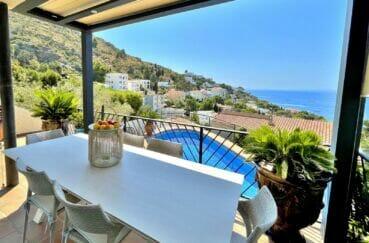 rosas immo: villa 3 chambres 124 m², terrasse couverte magnifique vue mer