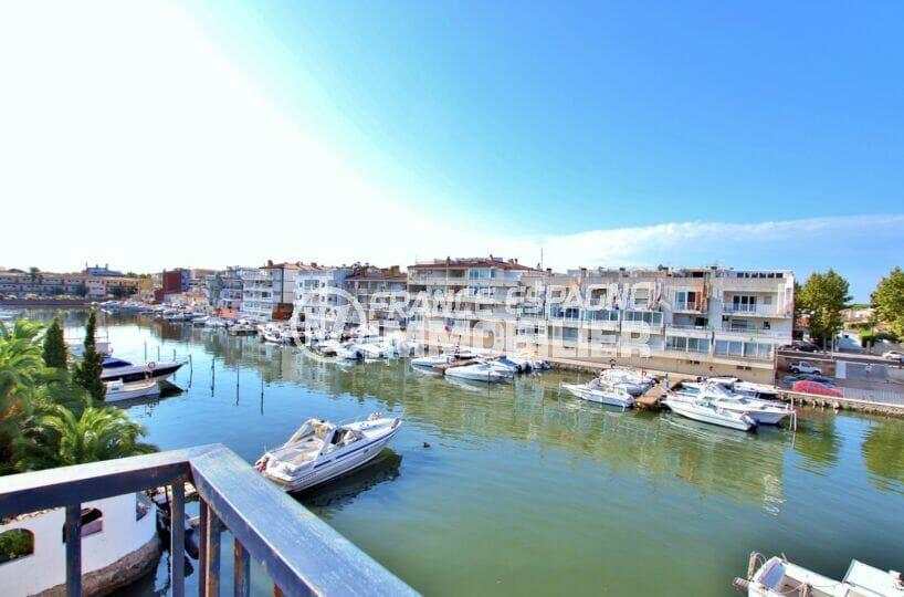 vente appartement empuriabrava, 2 pièces 41 m², terrasse avec vue dégagée sur le canal