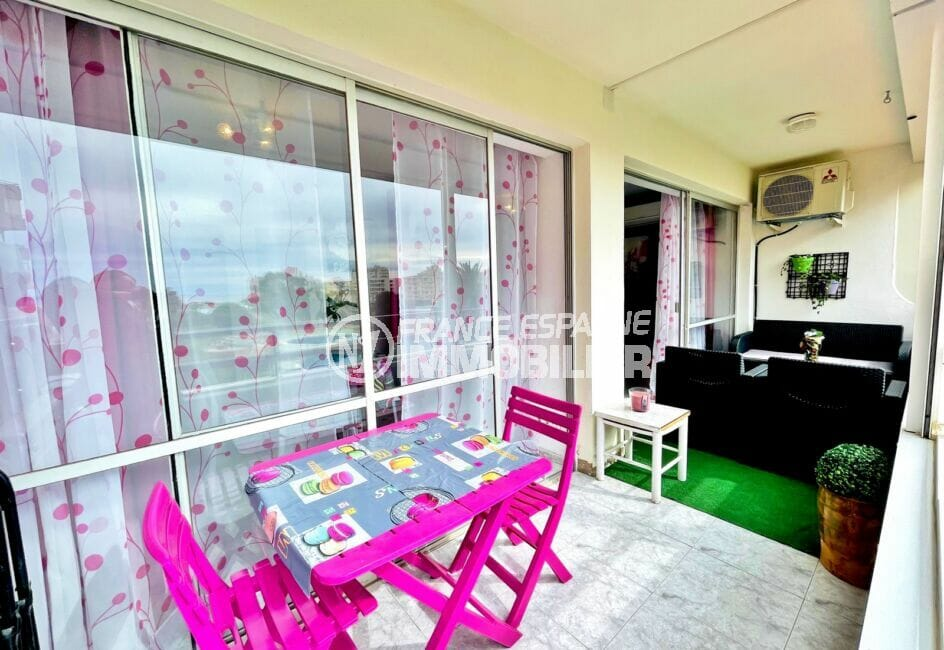 appartement à vendre à rosas espagne, 2 pièces 59 m², terrasse aménagée d'un salon de jardin